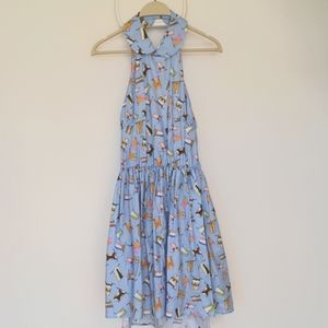 Miu Miu halter popline flag dress,size 42